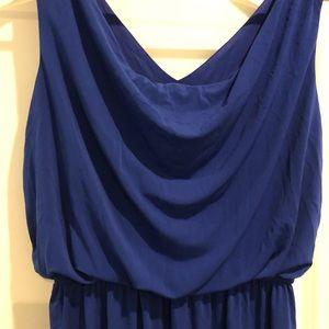 Blue hi-low dress
